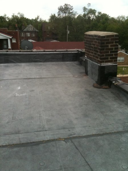 Black EPDM applied to this roof